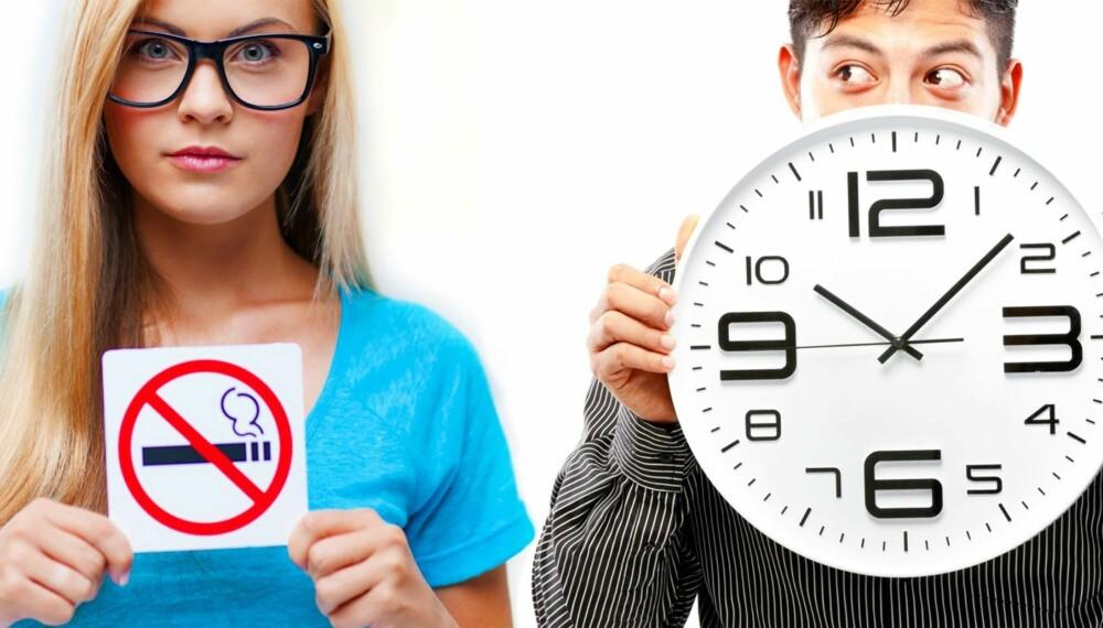 SLUTTA: Etter røykeslutt, jobber kroppen på spreng for å reparere skader og gi deg en sunn kropp.
