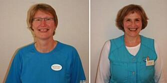 SMERTEEKSPERTER: T.v. spesialfysioterapeut Gesien Smit Janssens. T.h. spesialsykepleier: Anne Kari Sato Nordengen.