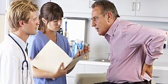 GÅ TIL LEGEN: Du bør oppsøke lege hvis du har fått et nytt symptom som ikke gir seg etter fire uker, og som føles plagsomt. Akutte smerter skal du selvsagt også søke lege for.