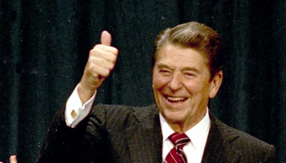 FIKK ALZHEIMER:  - Jeg får nye venner hver dag, sa Ronald Reagan om sin Alzheimer-lidelse som plaget den tidligere  presidenten i hans siste leveår.  Her er han avbildet etter valgskredet i 1984.