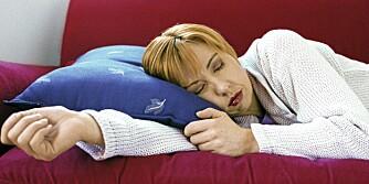 SOVER: Dersom du sover mye, går opp i vekt eller føler deg deprimert, kan du ha lavt stoffskifte. Legen din kan finne svaret for deg.
