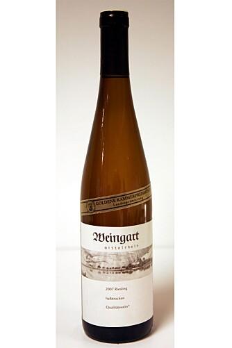 Weingart Mittelrhein Hochgewächs Riesling Halbtrocken 2007.