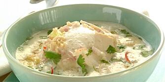 KOKOSSUPPE: Det er mange som har lagt sin elsk på den thailandske suppen tom kha gai.