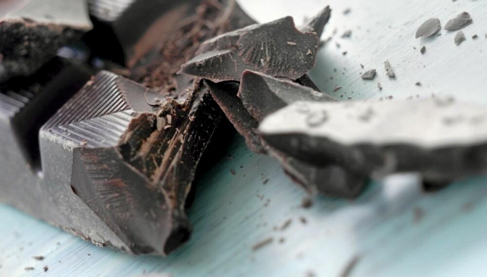 Det er den mørke sjokoladen som er  sunn.
