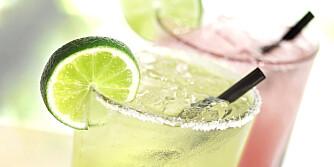 GODT I SOLA: Men margarita er den absolutte kaloriverstingen blant alkoholholdige forfriskelser.