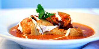 INDISK: Varmende indisk kylling.