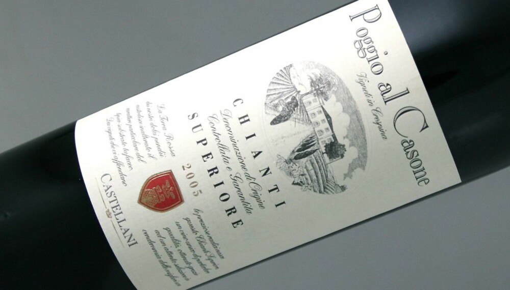 SANGIOVESE: Poggio al Casone Chianti Superiore 2005 er laget på 90 % sangiovese og 10 % canaiolo.