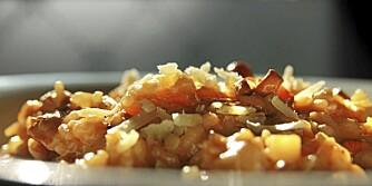OPPSKRIFT PÅ RISOTTO: Skal du smake høsten, kan du lage en deilig sopprisotto.