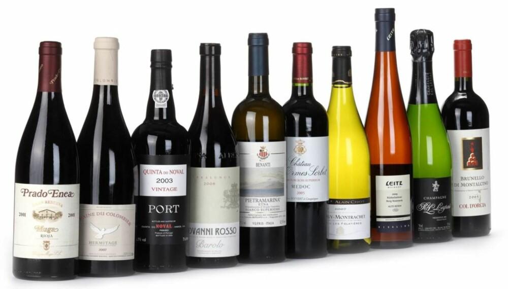 MYE GODT Å SE FREM TIL: Lagringsdyktig champagne, hvitvin, rødvin og portvin.