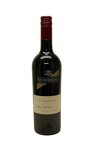 SØR-AFRIKA: Nederburg Winemaster Shiraz 2008.