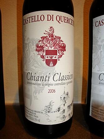 ITALIENSK VIN: Chianti er den mestselgende vinen fra området.