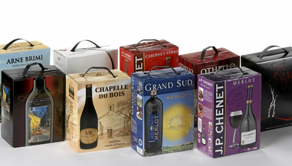 TIL PÅSKETUREN: Vi har testet fransk vin på kartong.