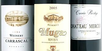 LAMMEVINER: Vi anbefaler gode rødviner fra både Argentina, Rioja og Bordeaux.