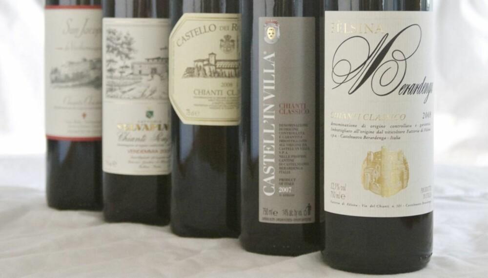 IKONISK: Fra hjertet av Toscana kommer en av verdens mest kjente viner.