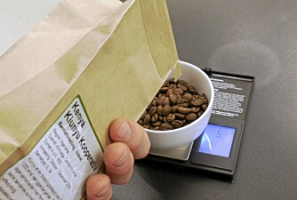 BRUK VEKT:Du trenger 60 gram kaffe per liter vann
