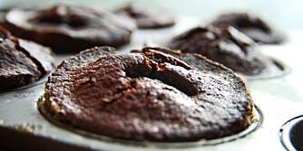 Her finner du oppskriften på deilige sjokolademuffins.