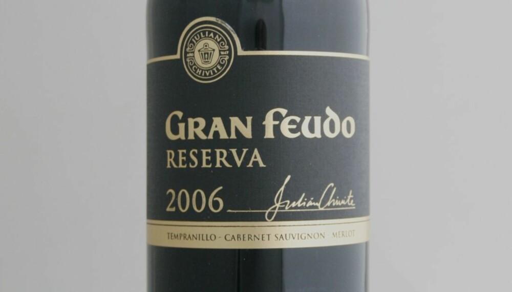 TOPP 10 RØDVIN: Gran Feudo Reserva 2006 er på femteplass.