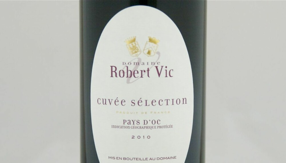 TOPP 10 RØDVIN: Robert Vic Cuvée Sélection 2010 er på førsteplass.