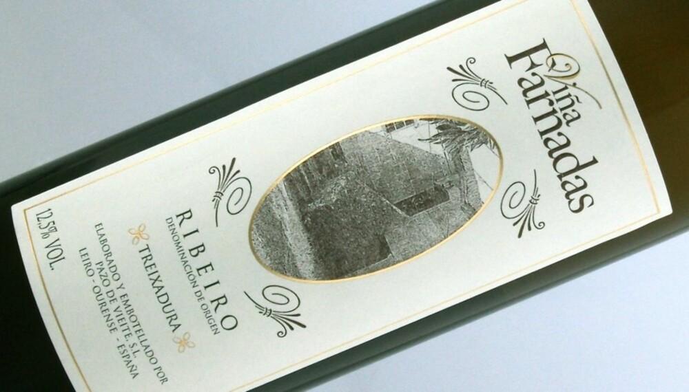 RIBEIRO: Viña Farnadas Treixadura kommer fra vindistriktet Ribeiro i Galicia.