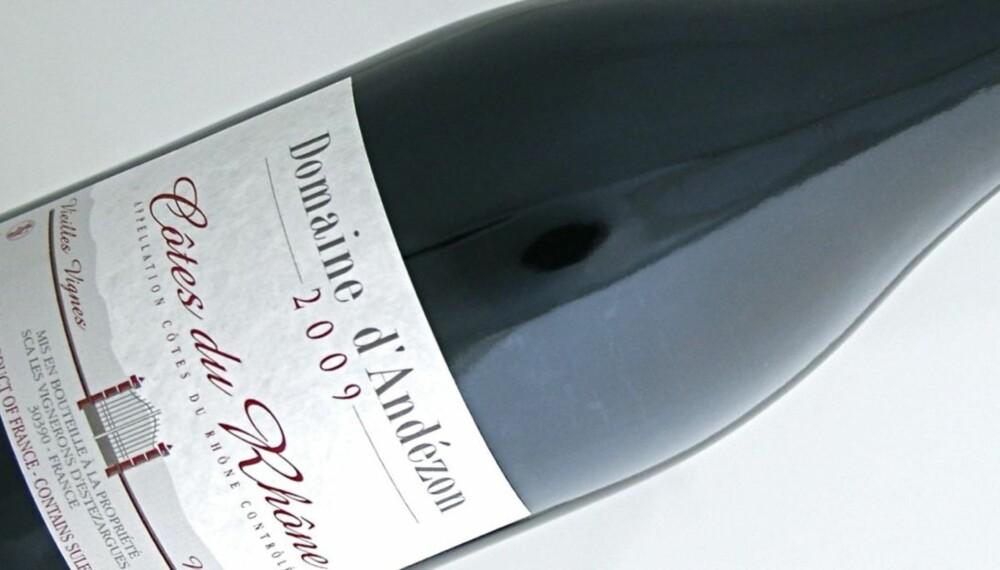 SYRAH: Domaine d¿Andézon kommer fra Côtes du Rhône og er laget på 100% syrah.