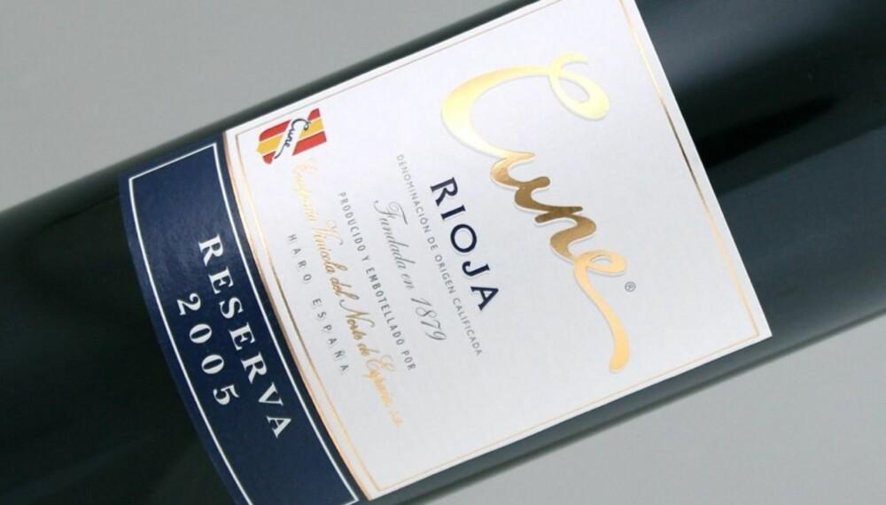TEMPRANILLO: Cune Rioja Reserva 2005 er laget på 85 % tempranillo.