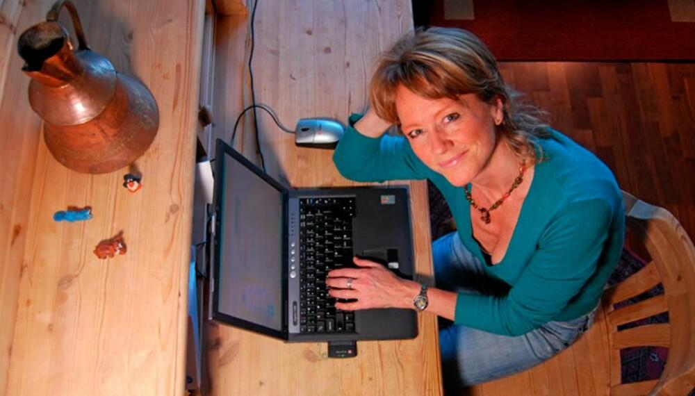 AVHENGIG: Forfatter og journalist Pernille Dysthe ble avhengig av nettdating. - Jeg klarte ikke å slutte før jeg oppdaget at det var i ferd med å gjøre meg til en kynisk person, sier hun.