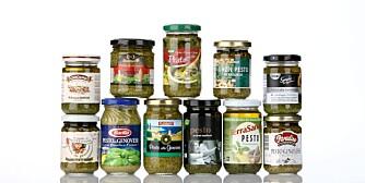 Klikk har testet 11 pestoer fra dagligvarebutikker.