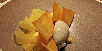 ÅTTENDE RETT: Is med gresskar og mandarin.