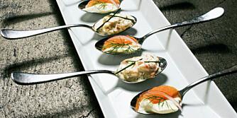 SMÅ MUNNFULLER: Skagenrøre er lett og fin snacks til kvelds.