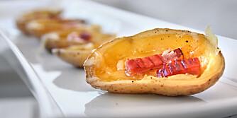 KVELDSGODT: Hva med å lage potato skins som kveldsgodt?