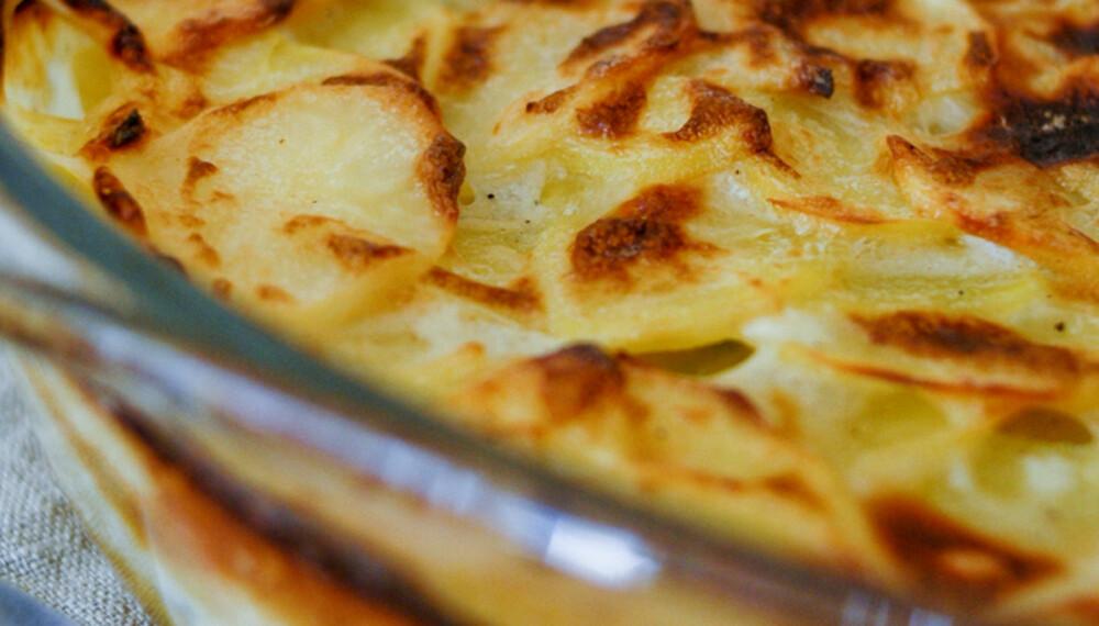 Her er oppskriften på fløtegratinerte poteter.