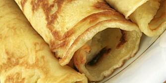 PANNEKAKER: Pannekaker kan bli godt med riktig fyll.