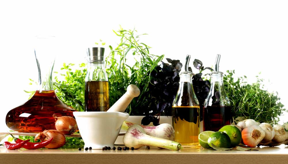BALANSE: Hemmligheten bak den perfekte marinaden er balanse mellom olje, krydder og noe surt noe.