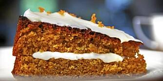 PERFEKT KAKE: Gulrotkake er enkel å lage og smaker kjempegodt!