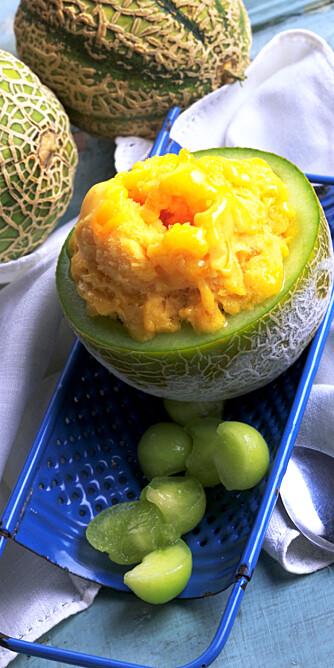 MELONTID: Hverken melon eller is er feil om sommeren.