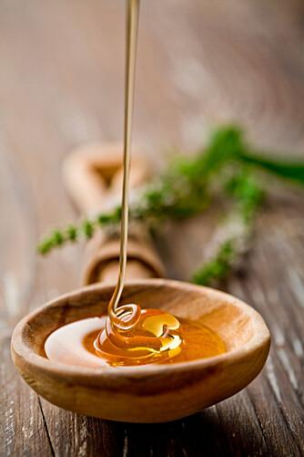 FLYTENDE GULL: En god honning hører med blant kjøkkenets basisvarer.