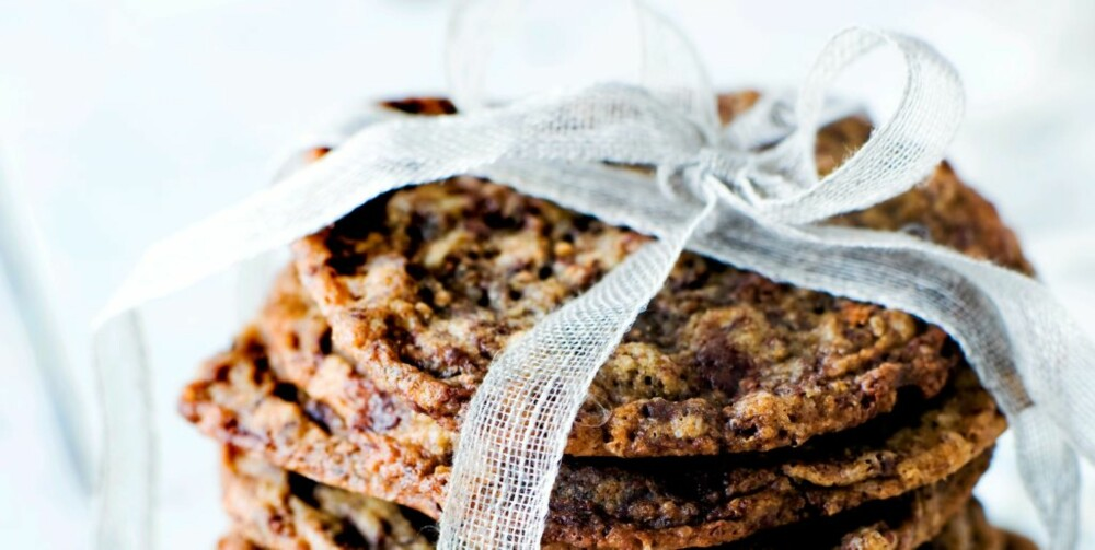 Havre- og sjokoladecookies