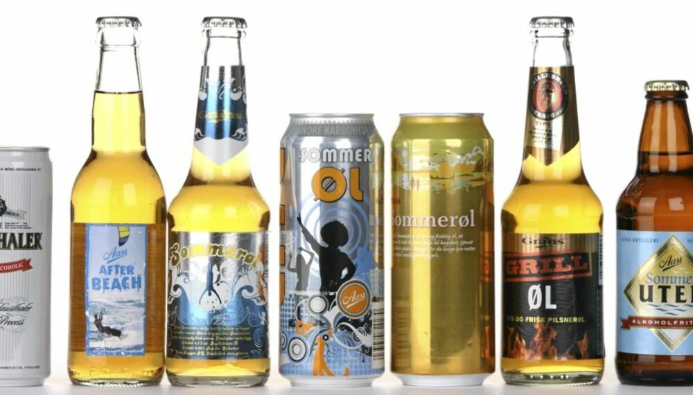 LYST ØL: Vi har testet 23 sorter øl til sommeren.