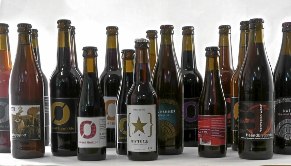 MIKROBRYGGERIER: De små bryggeriene lager særdeles godt øl. Du må på polet for å få tak i disse.