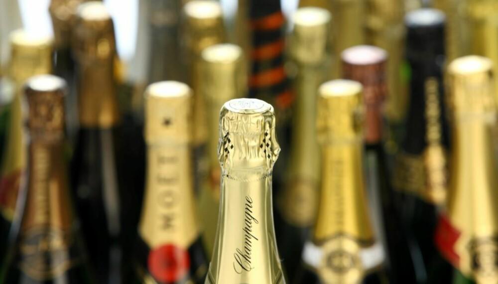 LUKSUSBOBLER: Mye godt i Klikks champagnetest.