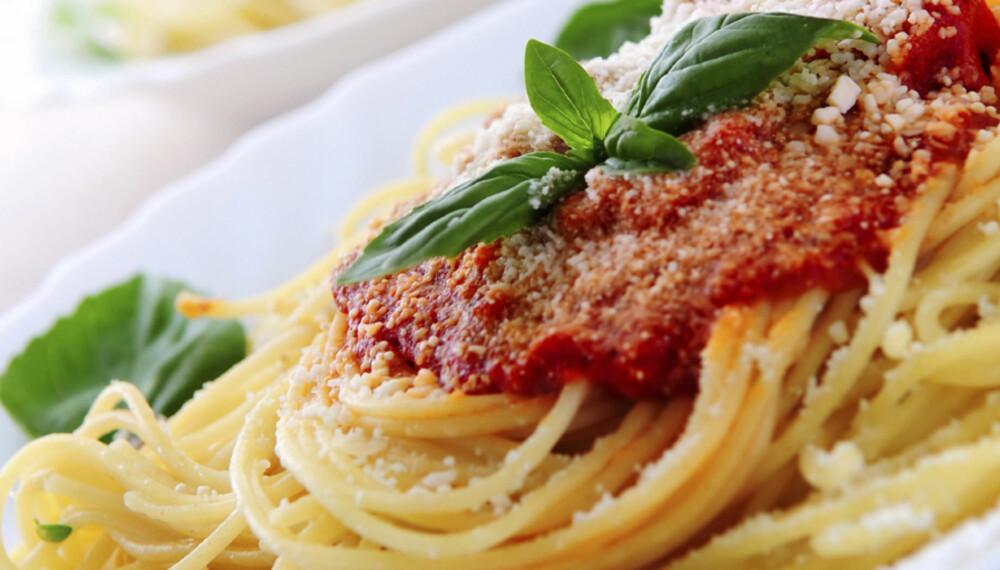 DAGENS MIDDAGSTIPS: Spagetti med hjemmelaget tomatsaus