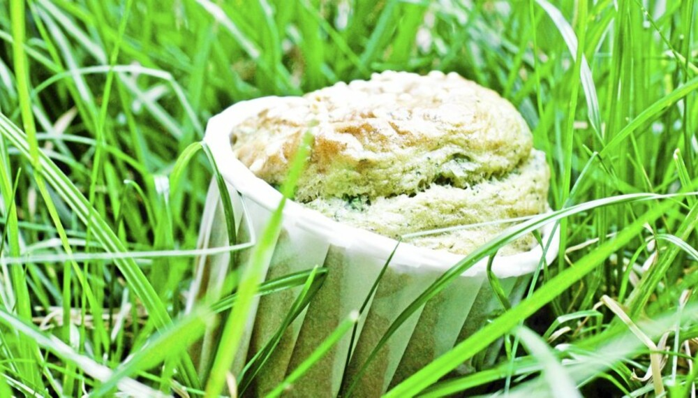 URTEMUFFINS: Friske urter i muffinsen gjør underverker.