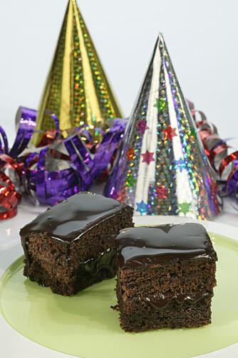 GLUTENFRI: Ritas sjokoladekake uten gluten og melk.