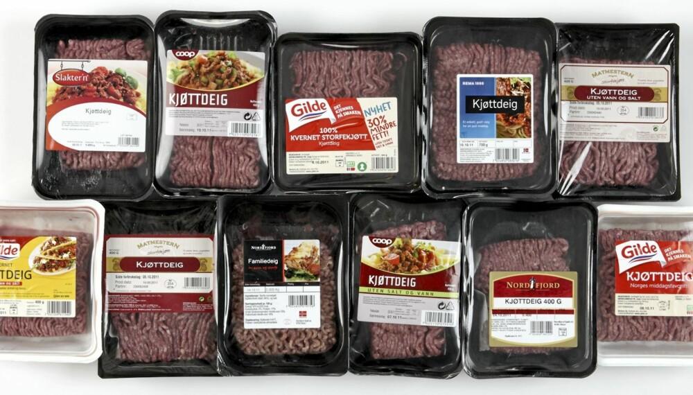 TESTET: DinKost.no har testet næringsinnholdet i kjøttdeig.