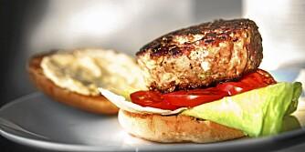 LAMMEBURGER: I denne burgeren finner du masse, masse, masse deilig hvitløk og rosmarin.