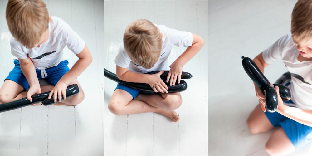 BALLONGSVERD: Et sverd lager barnet selv på noen få minutter med litt trening.