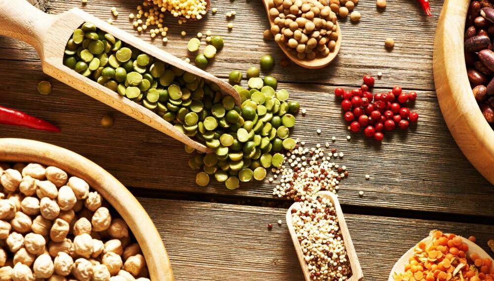 VEGETARIANER ELLER VEGANER? Belgfrukter, som soya, bønner og linser, gir deg protein og vitamin B12, som det lett kan bli for lite av når du er gravid.