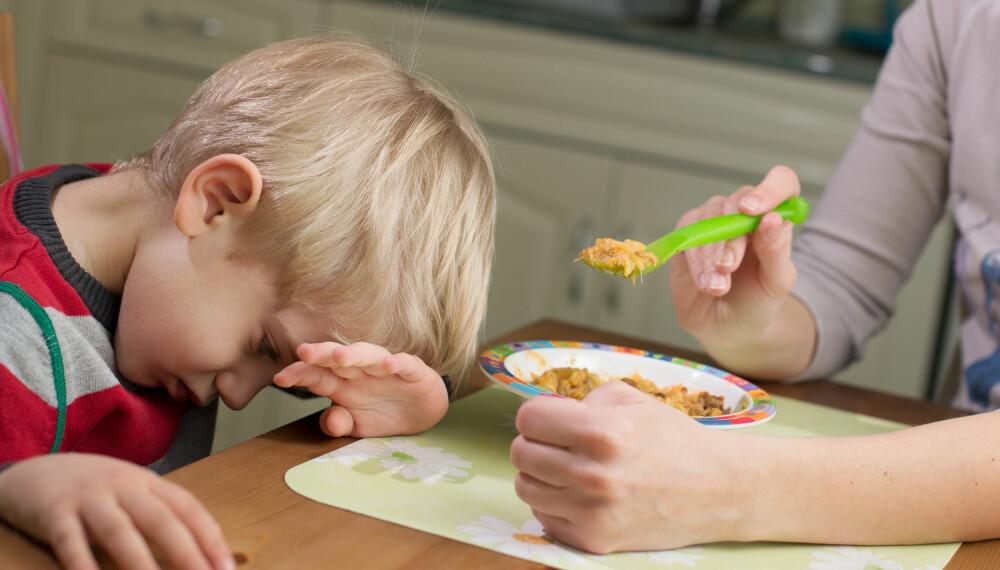 KRESNE OG SMÅSPISTE BARN: Har du et barn som ikke vil spise? Her får du middagstips og generelle råd til småspiste og kresne barn. Foto: Gettyimages.com.
