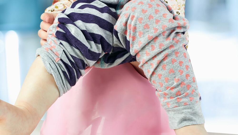 UTFLOD HOS BARN: Utflod hos barn er helt normalt, men du bør likevel være obs på noen ting.