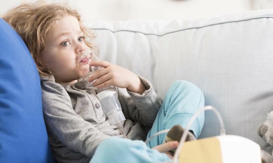 BARNEASTMA: Den store økningen i forekomsten av astma skjedde på 1980- og 1990-tallet. Men vi vet ikke med sikkerhet hvordan situasjonen er i Norge akkurat nå